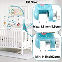 Baby Hanging Mobile Crib,Baby Bed Decoration Handbells/Baby/Rattles/Early/Education Toy for Bed Stroller for 0-2years old