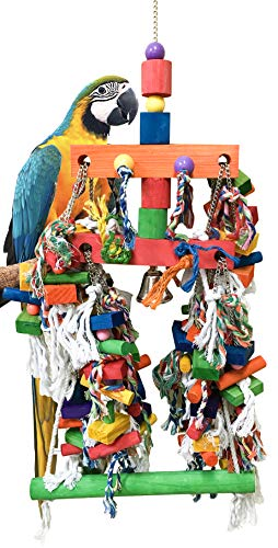 Bonka Bird Toys 1184 Biggo Block Bird Toy 11lbs of Chewing Fun