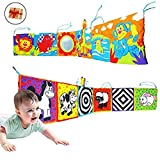 BabyPrice (Send a Infant Kid Baby Crib Bumper Pads Gallery High-Contrast Development Puzzle Zoo Cloth Book Toy