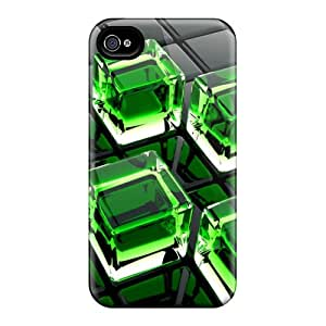 Hot Green Cubes First Grade Phone Cases For Iphone 6 Cases Covers