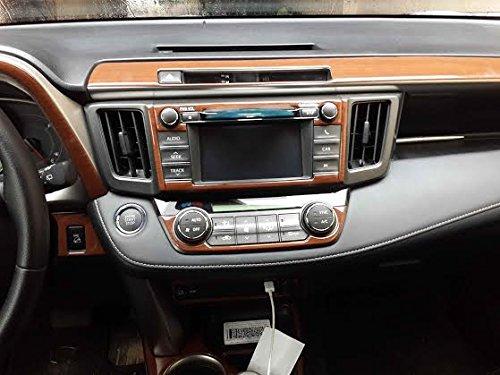 toyota rav-4 rav4 rav 4 le xle limited interior burl wood dash trim kit set 2013 2014 2015