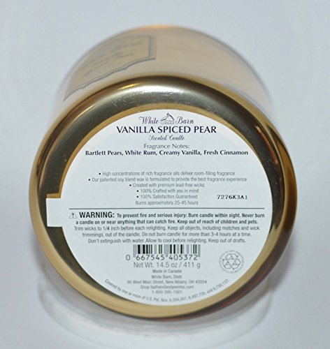 White Barn 3 Wick Candle Vanilla Spiced Pear by White Barn (Image #4)