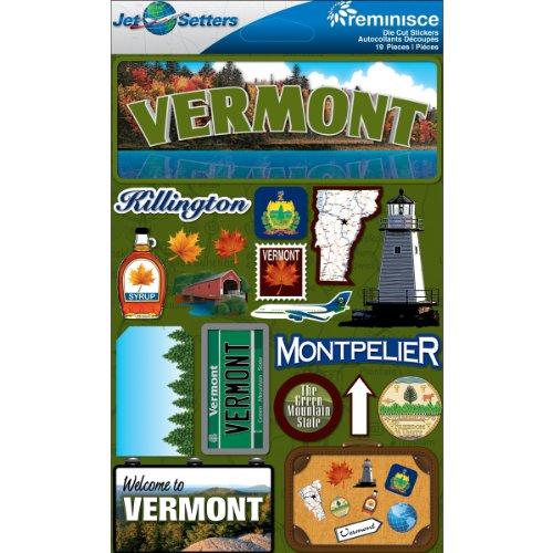 Reminisce Jet Setters 2 3-Dimensional Sticker, - Embellishment Jet Setter