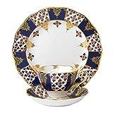Royal Albert 3 Piece 100 Years 1900 Teacup, Saucer & Plate Set, 8'', Multicolor