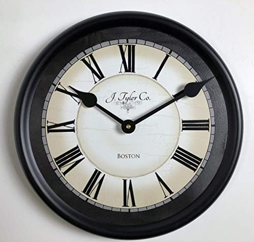 Carolina Gray Wall Clock, Available in 8 Sizes, Most Sizes Ship 2-3 Days, Whisper Quiet.
