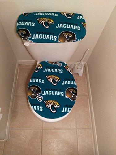 Jacksonville Jaguars Fleece Toilet Seat and Tank Lid Cover Set