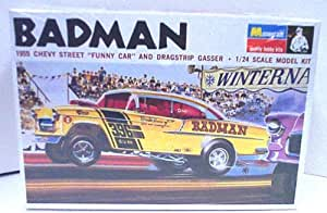 "Monogram PC229 ""BADMAN"" 1955 Chevy Steet ""Funny Car"" and Dragstrip Gasser 1/24 Scale Plastic Model Kit"