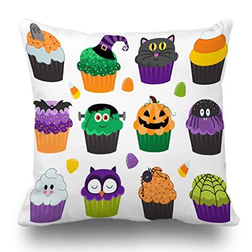 Batmerry Halloween/Thanksgiving Theme Decorative Pillow Covers 18 x