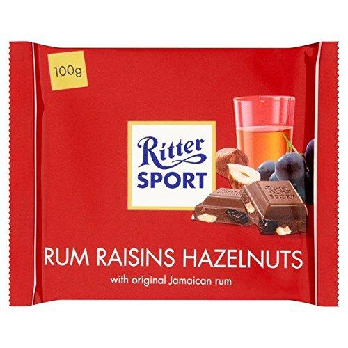 Ritter Sport Rum, Raisin & Hazelnuts Milk Chocolate - 100g