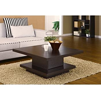 hokku designs audra square coffee table in coffee bean el 28219ct kitchen dining. Black Bedroom Furniture Sets. Home Design Ideas