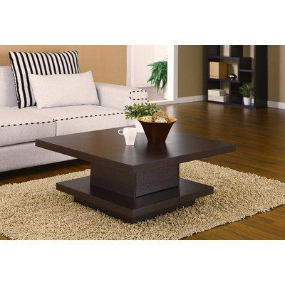 Attirant Hokku Designs Audra Square Coffee Table In Coffee Bean EL 28219CT