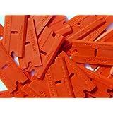Plastic Razor Scraper Blades - 100 Pack- Double Edged