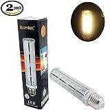 Bonlux Medium Screw E26 Base LED Bulb, 15 Watts (100 Watts Incandescent Bulb Replacement) T10 Tubular Light 360 Degree LED Corn Bulb (2, 15 Watt Warm White)