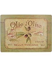 Creative Tops Olio D'Oliva Extra grote premium tafelsets met kurkrugzijde in 4-delige set, 40 x 29 cm (153х4 x 111х2 inch)