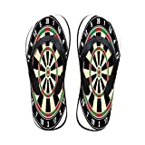 Sports Women Flip Flops,Dart Board Numbers Sports Accuracy Precision Target Leisure Time Graphic for Walking Hiking,US Size 6