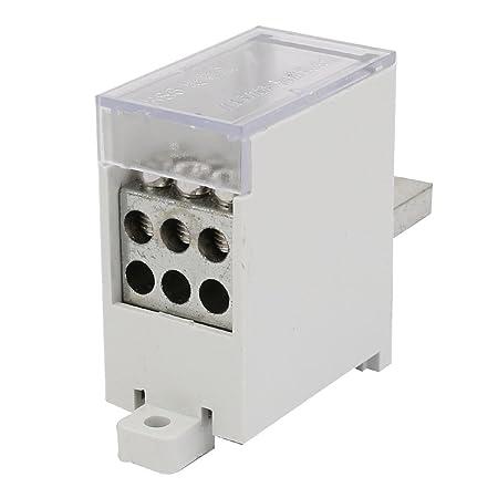 sourcing map Caja de conexiones eléctricas Blanca 200A Una entrada ...