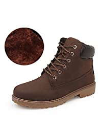 Short Combat Chelsea Retro Lace Up Martin Ankle Boots Work Hiking Trail Biker Shoes