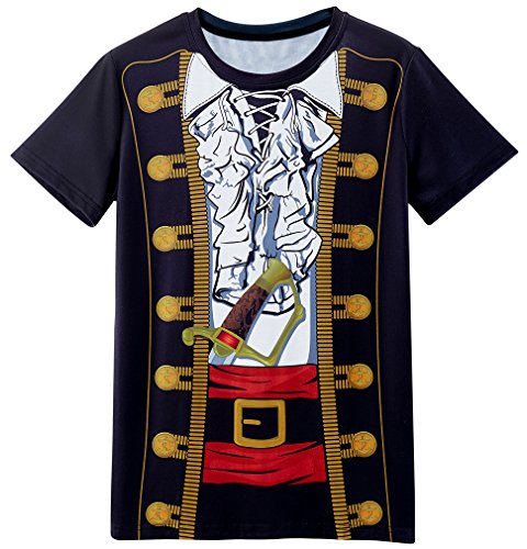 Funny World Men's Pirate Costume T-Shirts (XXL)
