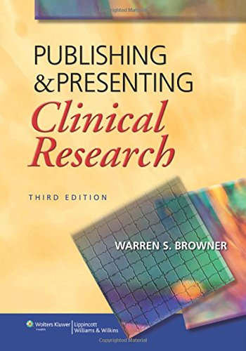 Pdf Health Publishing and Presenting Clinical Research