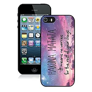 Graceful Iphone 5s Black Rubber Case Hakuna Matata Gifts Iphone 5 Durable Silicone Cover