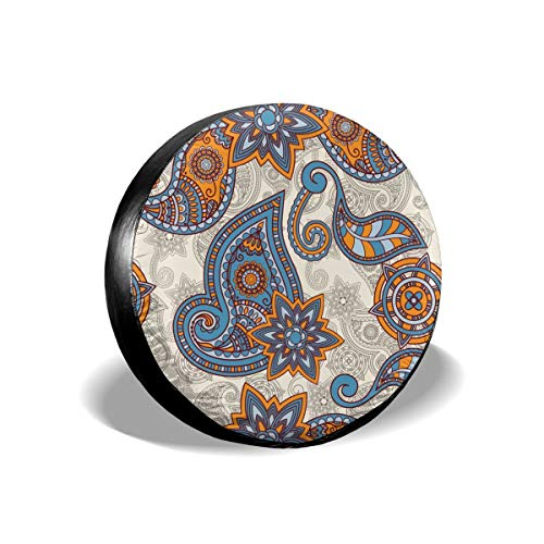 - Uktly Waterproof Spare Tire Cover Paisley Painting Universal Sun Protector Dust - Proof Wheel Covers for Jeep, Trailer, RV, SUV, Truck and Other Vehicle, Fits 24