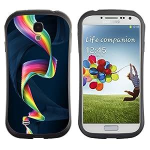 Fuerte Suave TPU GEL Caso Carcasa de Protección Funda para Samsung Galaxy S4 I9500 / Business Style Colorful Spiral