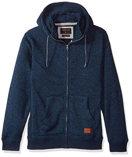 Quiksilver Pullover Sweatshirt - Quiksilver Men's Keller Zip Polar Fleece Sweatshirt, Navy Blazer Heather, XXL