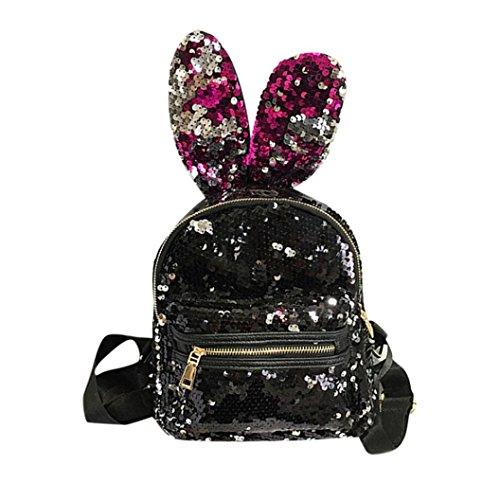 da Viaggio Rosso Casual Paillettes School Zaino Shinning Moda con Preppy Backpack da Borsa Hiroo Donna Bling in Borsa Glitter Stile Zaino Zaino Zainetti con Paillettes Pelle 6nwqY4Ox