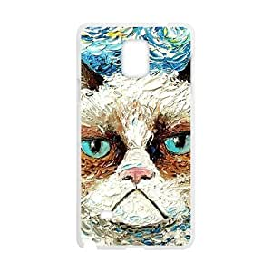 Aggrieved White cat Cell Phone Case for Samsung Galaxy Note4