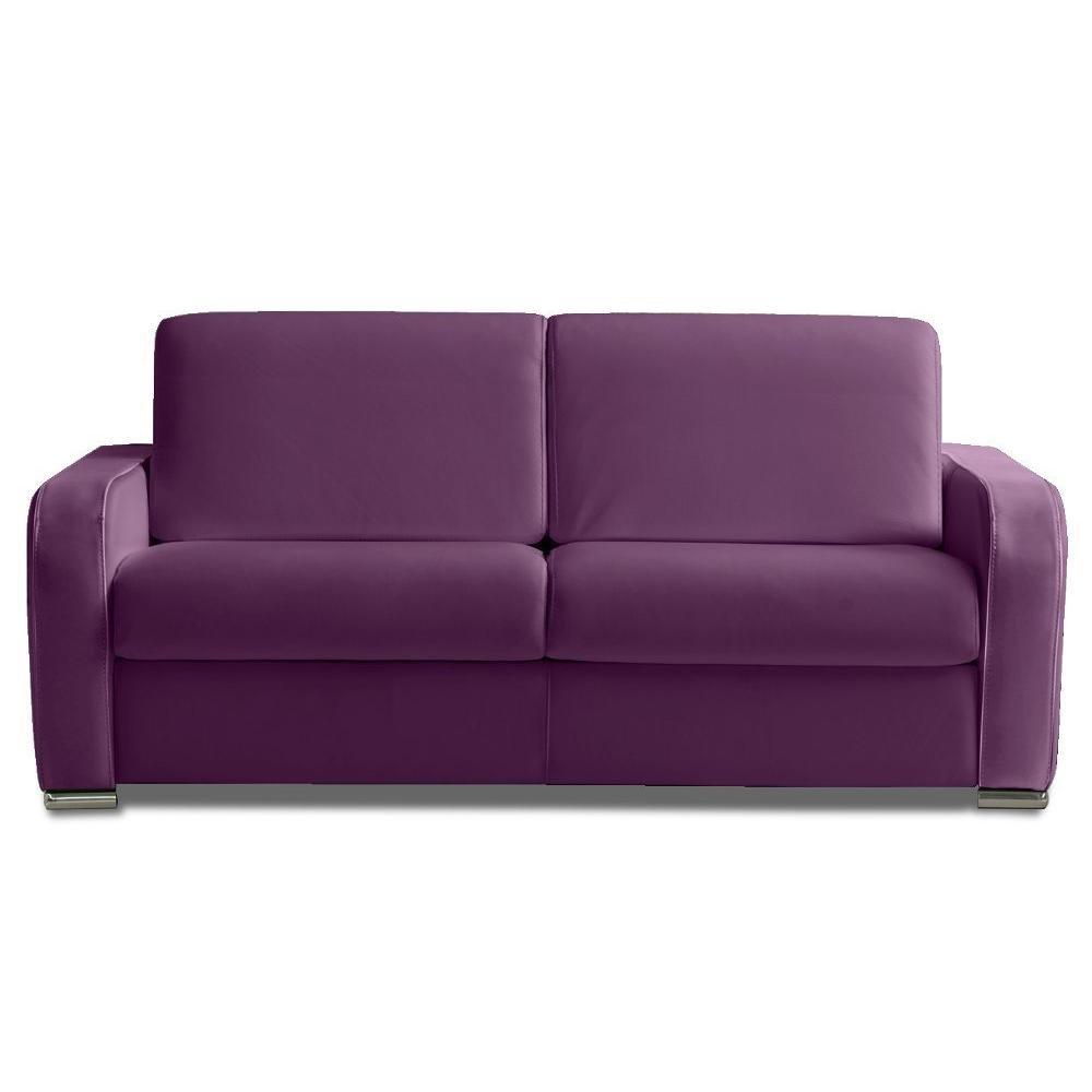 Awe Inspiring Sofa Bed 140 Cm Cow Rapido Sofia Leather Purple Base Slats Pdpeps Interior Chair Design Pdpepsorg