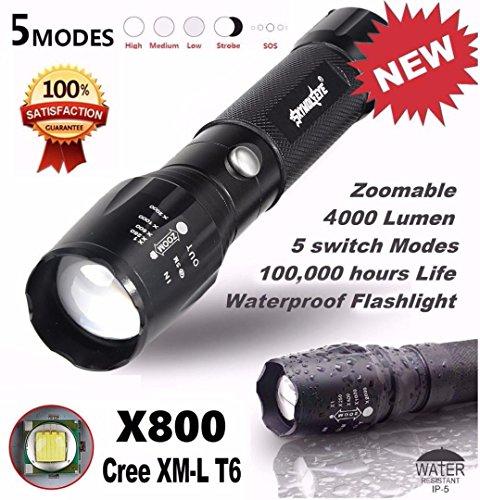 Flashlight,Lisingtool 5000LM G700 Tactical LED Flashlight X800 Zoom Super Bright Military Light Lamp