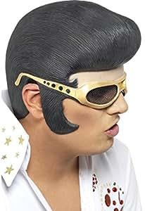Peluca de Elvis Rigida con Gafas Carnaval