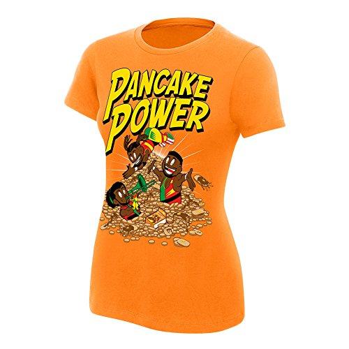 WWE The New Day Pancake Power Women's T-Shirt Orange Small by WWE Authentic Wear