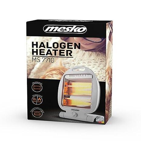 Mesko MS7710 radiador halogeno, Acero Inoxidable, Blanco, 41 x 29.5 x 54 cm: Amazon.es: Bricolaje y herramientas