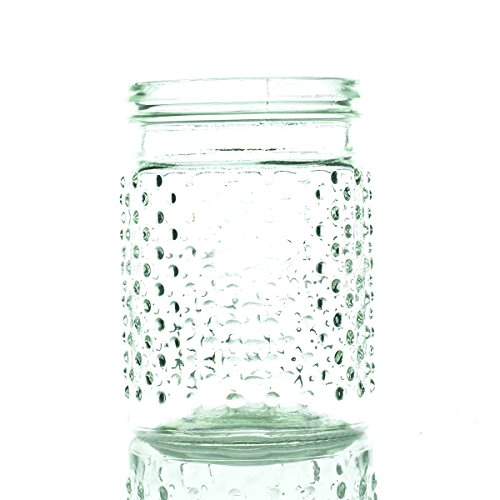 Vintage Hobnail Clear Glass Jar Candle Holder, Vase, Small, Pack of 24 (Hobnail Small Vase)