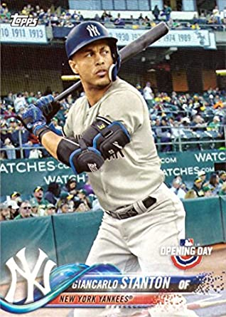 official photos 7c403 ef3bf 2018 Topps Opening Day #60 Giancarlo Stanton New York Yankees Baseball Card