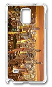 Adorable chicago night city view Hard Case Protective Shell Cell Phone Samsung Galaxy Note2 N7100/N7102 - PC Transparent