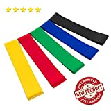 ZOLYCOMP Premium Fitness Loop Stretch and Resistance Bands, 5 Piece Set, Strength Bands with 5 Resistance Strength, for Flexibility, Stretching, Strength, Pilates, Fitness, Yoga for Women, Men