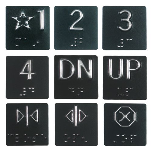 Braille Elevator Plates by MaxiAids