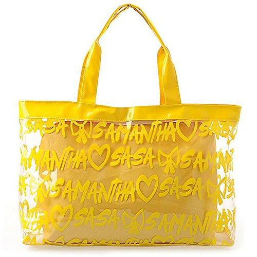 JOTHIN , Borsa da spiaggia Unisex bambini Uomo Unisex adulto giallo 49cm*12cm*32cm