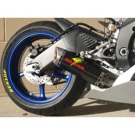 - 06-18 YAMAHA YZF-R6: Graves Cat Back Slip-On Exhaust (Stainless Steel/Carbon Can/Standard Titanium End Cap)