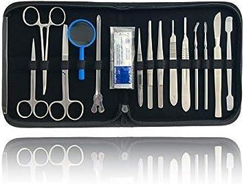 Disección Sezierbesteck Set para Preparar con Instrumentos de Acero: Amazon.es: Salud y cuidado personal