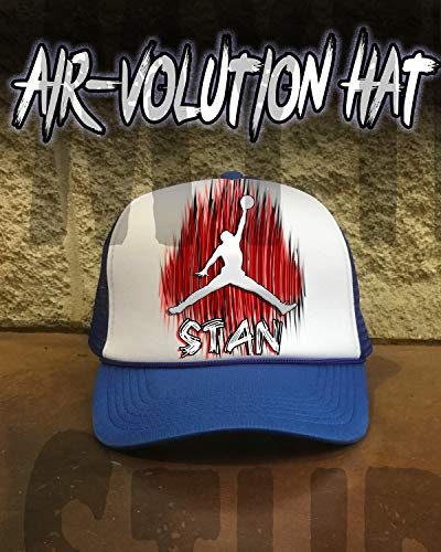 (Personalized Airbrushed basketball Snapback Trucker)