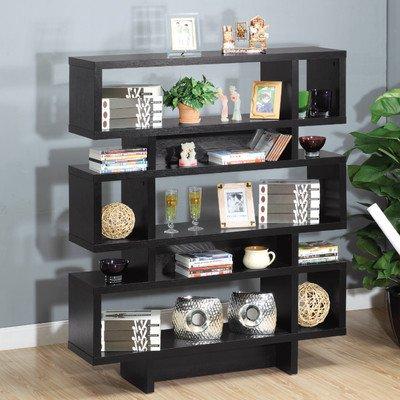 Celio Three-Tier Bookcase / Display Cabinet in Black (Celio Three Tier Bookcase)