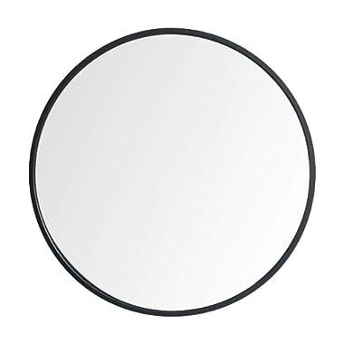 """Beauty4U Large Circle Metal Frame Mirror, 19.7"""" Wall-Mounted Mirror for Bedroom, Bathroom, Living Room & Entryway, Vanity Mirror, Black"""