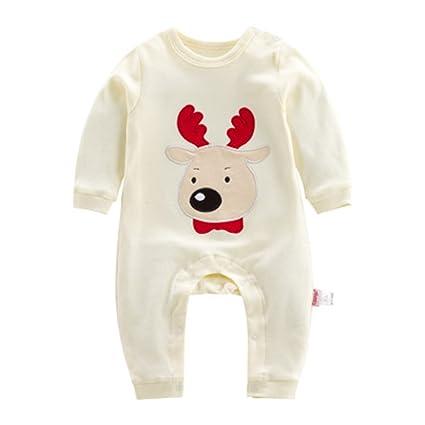 Bebés Ropa de Navidad Pijamas - Recién nacido Niñas Niños trajes Algodón Manga larga infantil Animal