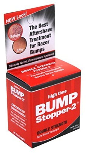 High Time Bump Stopper-2 0.5 Ounce Double Strength Treatment (14ml) (3 Pack) (Best Men's Razor Bump Treatment)
