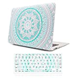 Macbook case,iCasso Hard shell Plastic protective Case Cover For Apple Laptop Macbook Pro 13 Inch with CD-ROM Drive Model A1278 with Keyboard Cover (Blue&White Medallion)