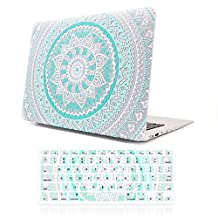 Macbook Air 11 inch Case,iCasso Hard shell Plastic protective Case Cover for Apple Laptop Macbook Air 11 inch Model A1370/A1465 With Keyboard Cover (Blue&White Medallion)
