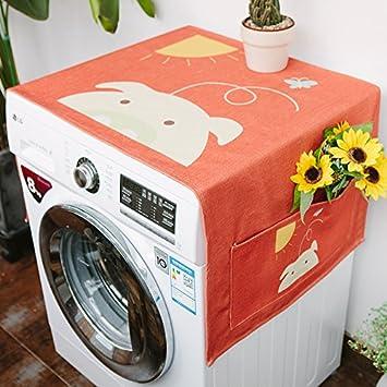 Animal Series pattern roller lavatrice –  panno di cotone e lino coperture antipolvere, multi-funzione frigorifero copertura antipolvere con borse di stoccaggio (3 dimensioni disponibili), Style 1, 55 * 140cm Y2573455475